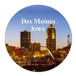 Des Moines Round Car Magnet