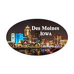 Des Moines Oval Car Magnet
