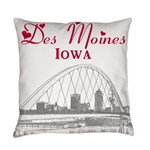 Des Moines Everyday Pillow