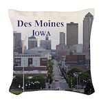 Des Moines Woven Throw Pillow