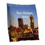 Des Moines Burlap Throw Pillow