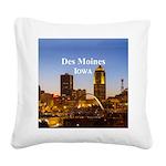 Des Moines Square Canvas Pillow