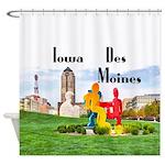 Des Moines Shower Curtain