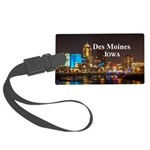 Des Moines Large Luggage Tag