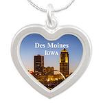 Des Moines Silver Heart Necklace