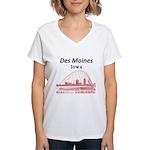Des Moines Women's V-Neck T-Shirt