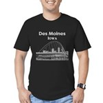 Des Moines Men's Fitted T-Shirt (dark)