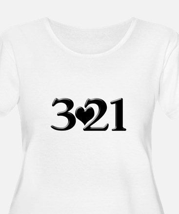 321 Down Syndrome Awareness Day Plus Size T-Shirt