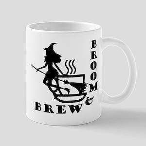 Broom and Brew Logo Mugs