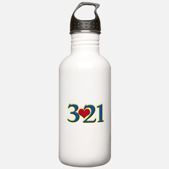 321 Down Syndrome Awar Water Bottle