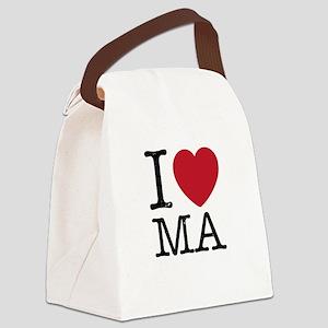 I Love MA Massachusetts Canvas Lunch Bag
