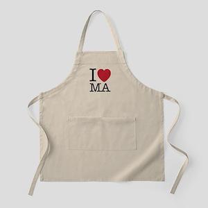 I Love MA Massachusetts Apron