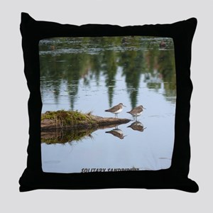 Solitary Sandpiper Throw Pillow