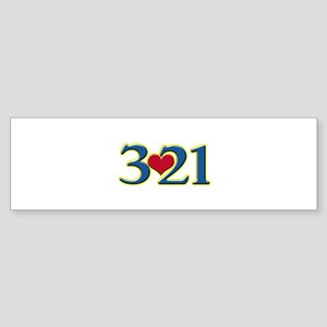 321 Down Syndrome Awareness Day Bumper Sticker