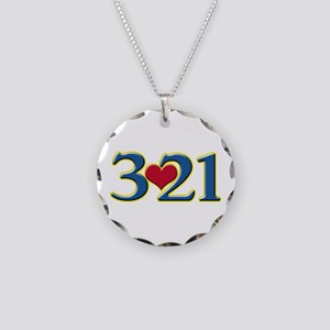 321 Down Syndrome Awareness Necklace Circle Charm