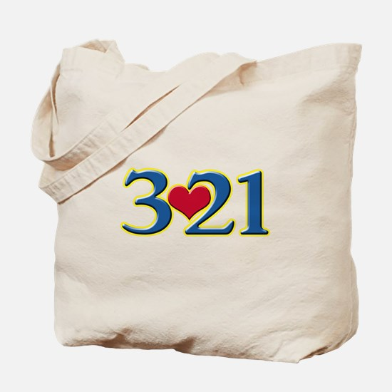 321 Down Syndrome Awareness Day Tote Bag