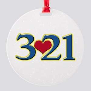 321 Down Syndrome Awareness Day Round Ornament