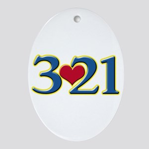 321 Down Syndrome Awareness Day Oval Ornament