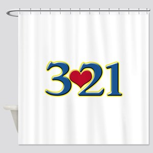 321 Down Syndrome Awareness Day Shower Curtain