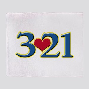 321 Down Syndrome Awareness Day Throw Blanket