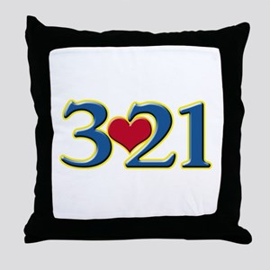 321 Down Syndrome Awareness Day Throw Pillow