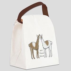 cute llamas bff Canvas Lunch Bag