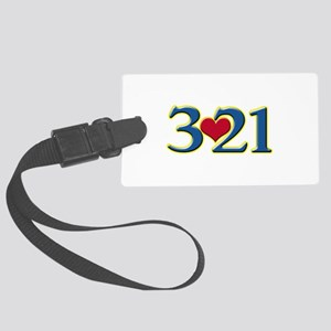321 Down Syndrome Awareness Day Large Luggage Tag