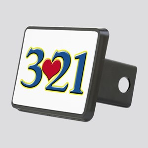 321 Down Syndrome Awarenes Rectangular Hitch Cover