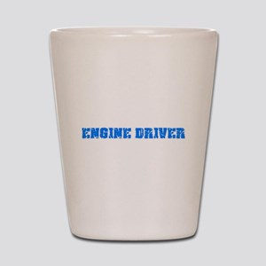 Engine Driver Blue Bold Design Shot Glass
