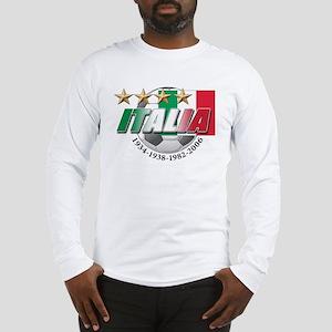 Italian soccer emblem Long Sleeve T-Shirt
