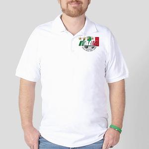 Italian soccer emblem Golf Shirt