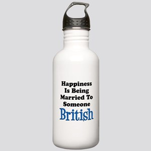 Happiness Married To Someone British Water Bottle