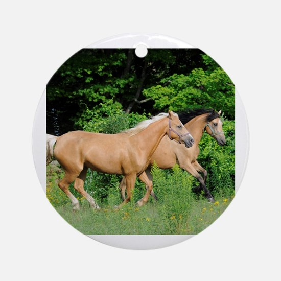 Cute Buckskin Round Ornament
