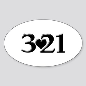 321 Down Syndrome Awareness Day Sticker