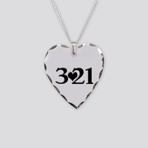 321 Down Syndrome Awareness D Necklace Heart Charm