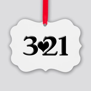 321 Down Syndrome Awareness Day Picture Ornament