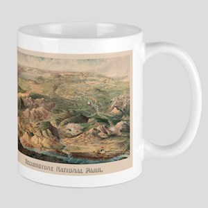 Vintage Pictorial Map of Yellowstone Park (19 Mugs