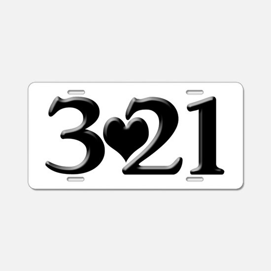 321 Down Syndrome Awareness Aluminum License Plate