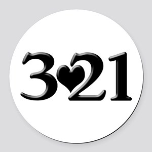 321 Down Syndrome Awareness Day Round Car Magnet