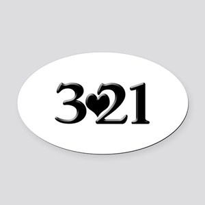 321 Down Syndrome Awareness Day Oval Car Magnet