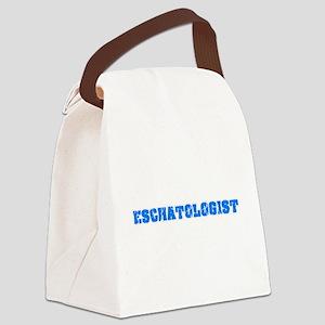 Eschatologist Blue Bold Design Canvas Lunch Bag
