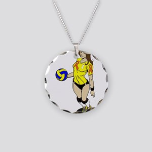 SEXY VOLLEY GIRL ORANGE RIBBON Necklace