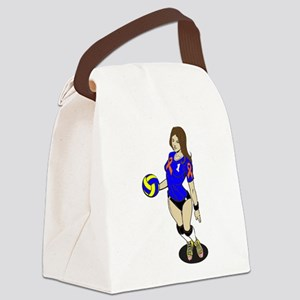 SEXY VOLLEY GIRL ORANGE RIBBON Canvas Lunch Bag