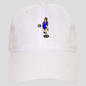 SEXY VOLLEY GIRL ORANGE RIBBON Baseball Cap