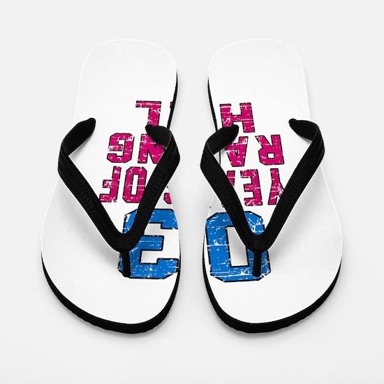 03 Years Of Raising Hell Birthday Flip Flops