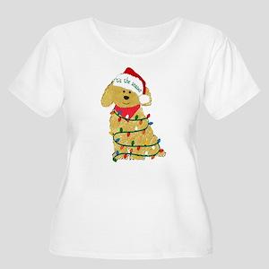 Christmas Goldendoodle Plus Size T-Shirt