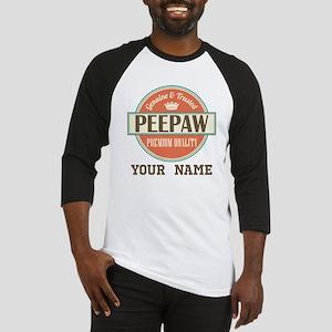 Peepaw Grandpa Personalized Gift Baseball Jersey