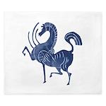 Vintage Flying blue horse King Duvet