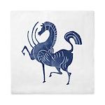 Vintage Flying blue horse Queen Duvet