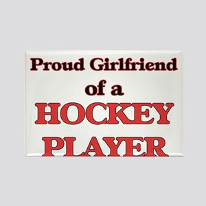 Proud Girlfriend of a Hockey Player Magnets